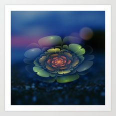 A Beautiful Fractal Flower 2 Art Print