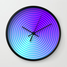 Coiled in Blue and Pink Wall Clock