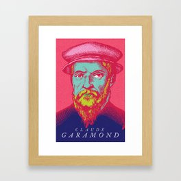 Claude Garamond Framed Art Print