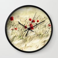 poem Wall Clocks featuring A POPPY  POEM by Stephanie Koehl