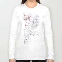 calendar Long Sleeve T-shirts featuring Calendar mess by Dreamy Me