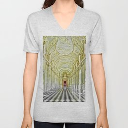 Gallery of Diana, Royal Palace of Venaria Reale, Turin Italy Portrait Painting by Jeanpaul Ferro Unisex V-Neck