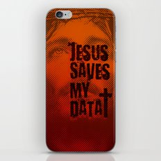 Jesus saves my data iPhone & iPod Skin