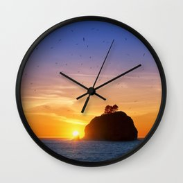 Sunset at First Beach - La Push .3 Wall Clock