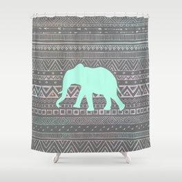 Mint Elephant  Shower Curtain
