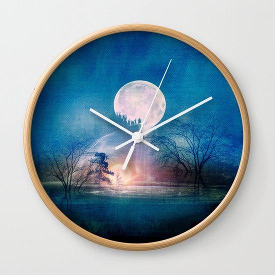 Moon Above, Sun Below Wall Clock