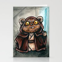 ewok Stationery Cards featuring Ewok Jedi by Megan Mars