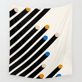 Bauhaus Poster Art Print, Minimalist Modern Retro Print, Yellow Black & White Abstract Wall Art Wall Tapestry
