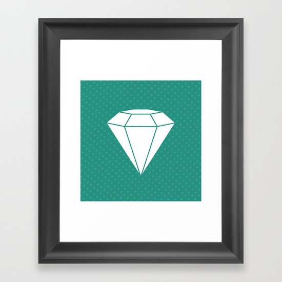 White Diamond Framed Art Print