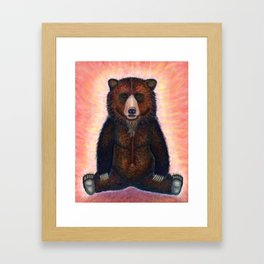 Blissed Out Bear Framed Art Print