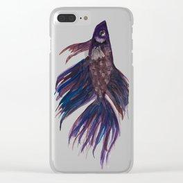 Original Betta Fish Watercolor Clear iPhone Case