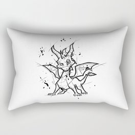 Spyro Handmade Drawing, Made in pencil and ink, Tattoo Sketch, Videogames Art Rectangular Pillow