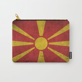 Old and Worn Distressed Vintage Flag of Macedonia Carry-All Pouch