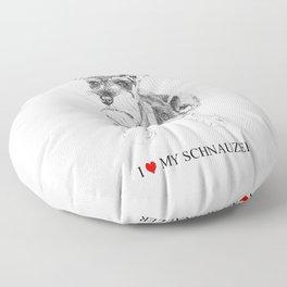 I love my Schnauzer Floor Pillow