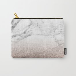 Marble sparkle rose gold Carry-All Pouch