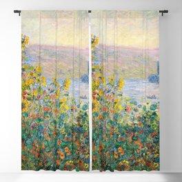 Flower Beds at Vétheuil by Claude Monet 1881 Blackout Curtain
