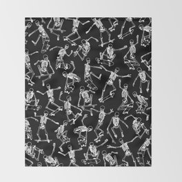 Grim Ripper BLACK Throw Blanket