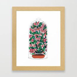 """Capacity""/Lathyrus odoratus - part of the Bell Jar series Framed Art Print"