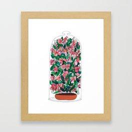 """Capacity""/Lathyrus odoratus - part of the Bell Jar series Framed Art Print"