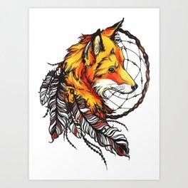 Dream And Fox Art Print