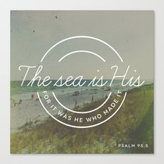 Psalm 95:5 Canvas Print