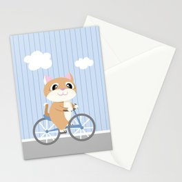Mobile series bicycle cat Stationery Cards