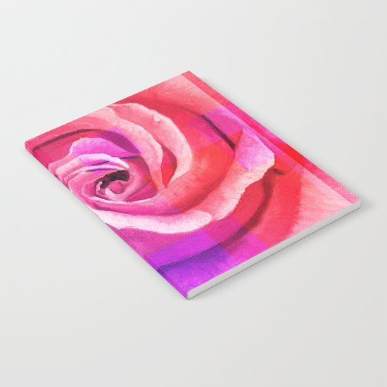 Retouched rose painting Notebook