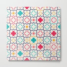 Cute Eastern Pattern Metal Print