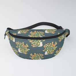 Watercolor Peacock Fanny Pack