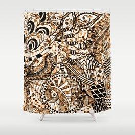 Zentangle Mix 1216 Shower Curtain