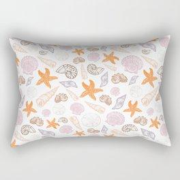 Seashell Print Rectangular Pillow
