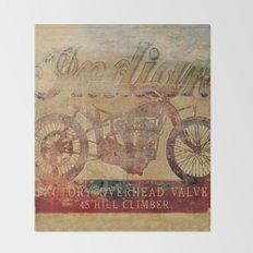 Indian - Vintage Motorcycle Throw Blanket
