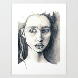 Pencil Drawing Art Print
