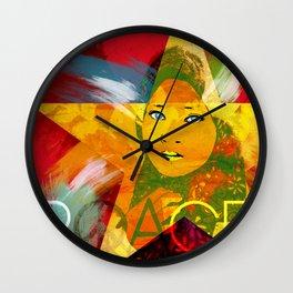 Pop 'n Peace Wall Clock