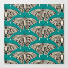 swallowtail butterfly teal black Canvas Print