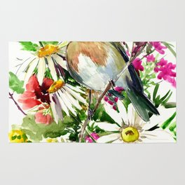 Robin Bird and Summer Colors Rug