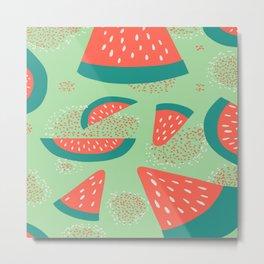 pattern watermelon dots Metal Print