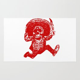 Pirate Skeleton Holding Dagger Rug
