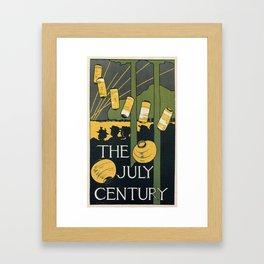 July 1895 American Century Magazine Framed Art Print