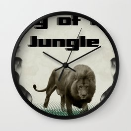 The King of The Jungle Wall Clock