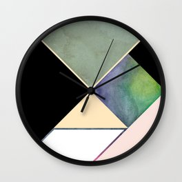 Tangram Square Three Wall Clock