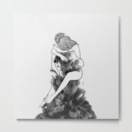 I find peace in your hug. Metal Print