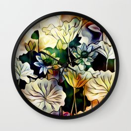 Lotus Love Wall Clock