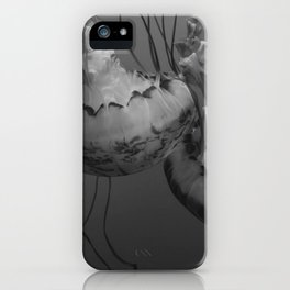 Jellyfish (Black and White) iPhone Case
