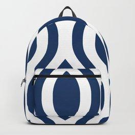 Pretty Ogee Pattern 434 Navy Blue Backpack