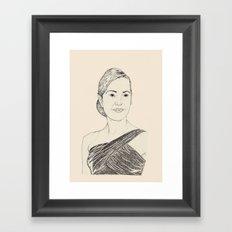Kate Winslet Portrait Framed Art Print