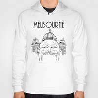 melbourne Hoodies featuring Melbourne by Jeremy Buckley illustration