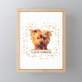 I LOVE YORKIES   Dogs   nb Framed Mini Art Print