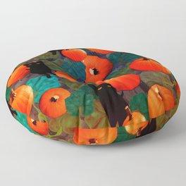 Pumpkins and Black Cats Floor Pillow
