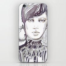Fashion illustration in watercolors iPhone & iPod Skin